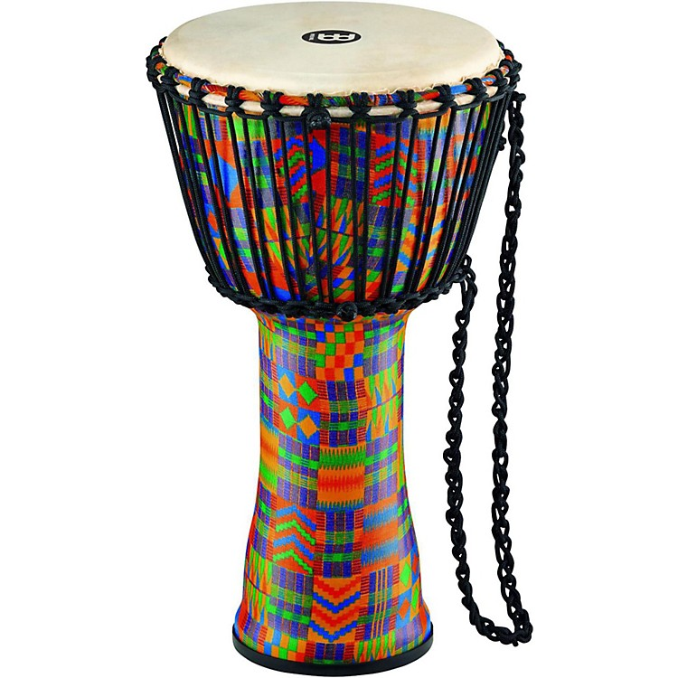 MeinlRope Tuned Djembe with Synthetic Shell and Goat Skin Head10 in.Kenyan Quilt