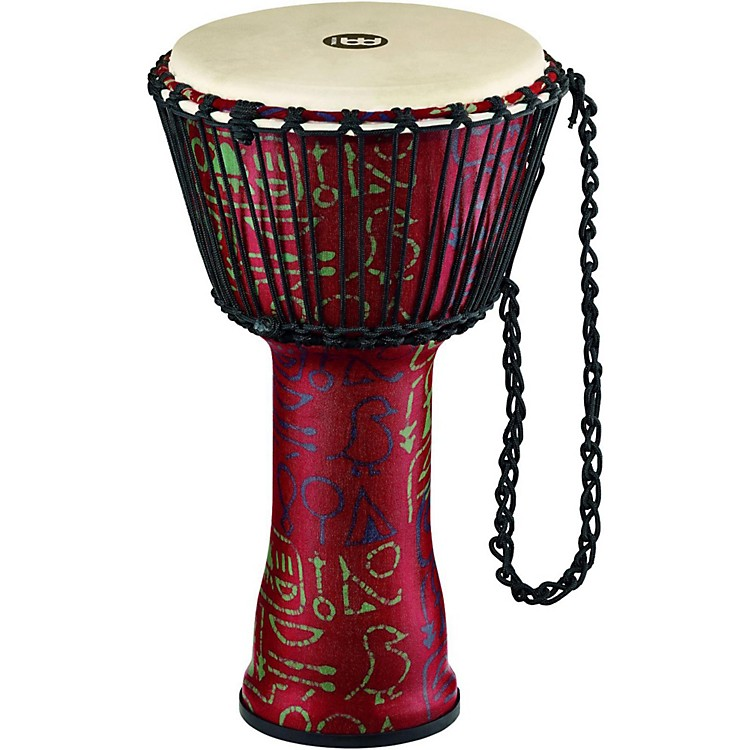 MeinlRope Tuned Djembe with Synthetic Shell and Goat Skin Head10 in.Pharaoh's Script