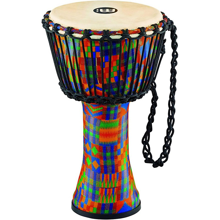 Meinl Rope Tuned Djembe with Synthetic Shell and Goat Skin Head 10 in. Kenyan Quilt