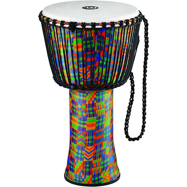 MeinlRope-Tuned Djembe with Synthetic Shell and Head14 in.Kenyan Quilt