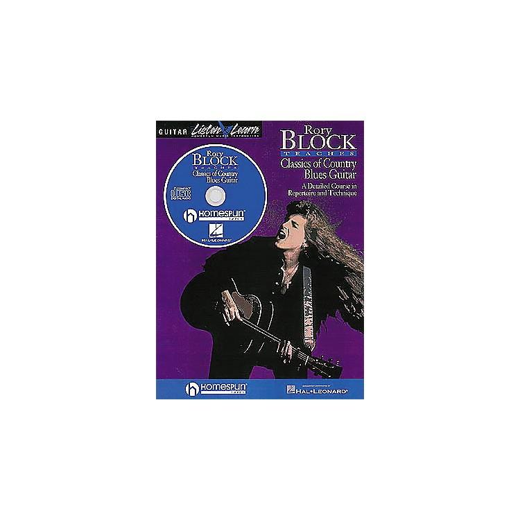 HomespunRory Block Teaches Classics of Country Blues Guitar (Book/CD)
