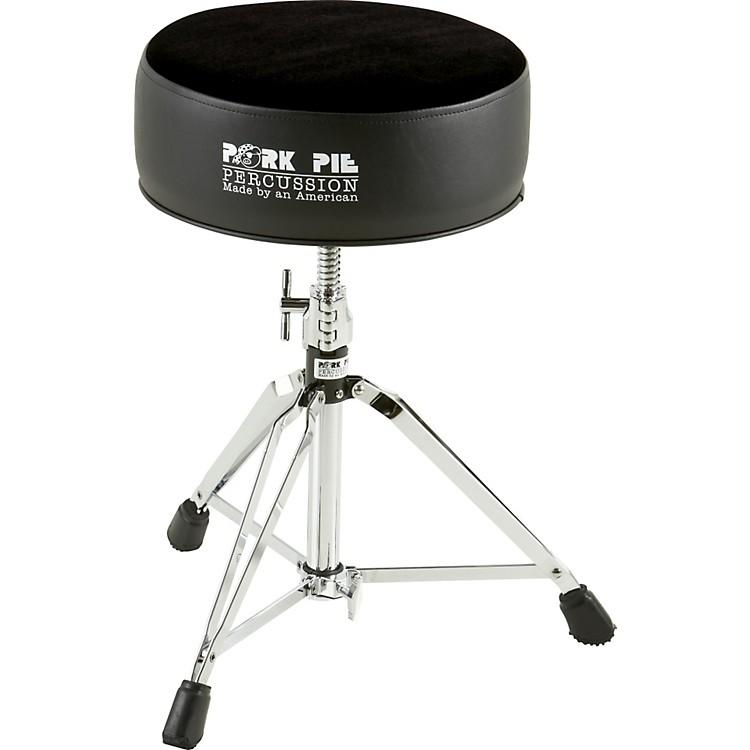 Pork PieRound Drum ThroneSilver Sparkle with Black Swirl Top
