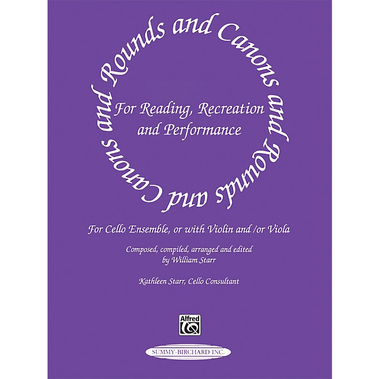 Alfred Rounds and Canons for Reading Cello Ensemble