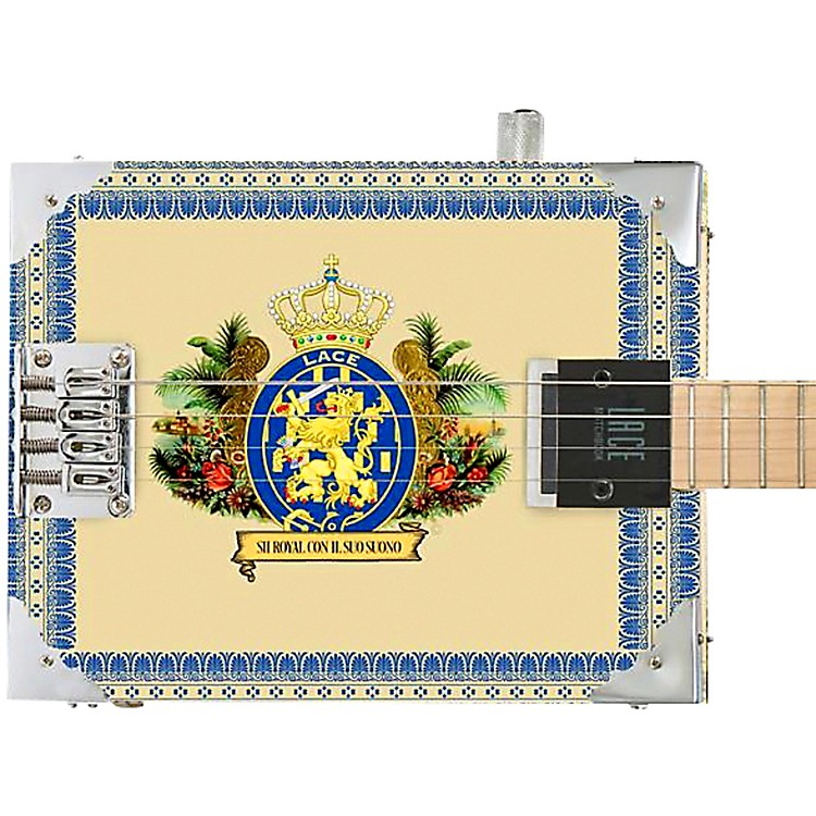 LaceRoyalty Acoustic-Electric Cigar Box Guitar4 string