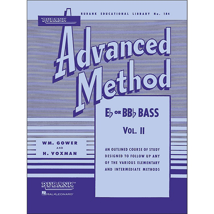 Hal LeonardRubank Advanced Method for E Flat Or BB-Flat Bass Volume 2