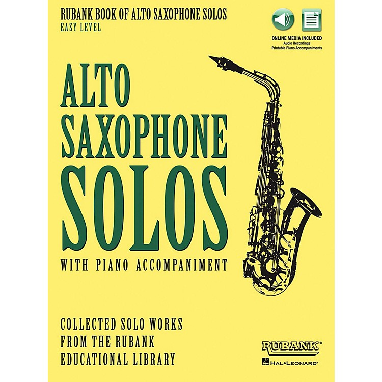 Hal Leonard Rubank Book of Alto Sax Solos - Easy Level Book/Audio Online