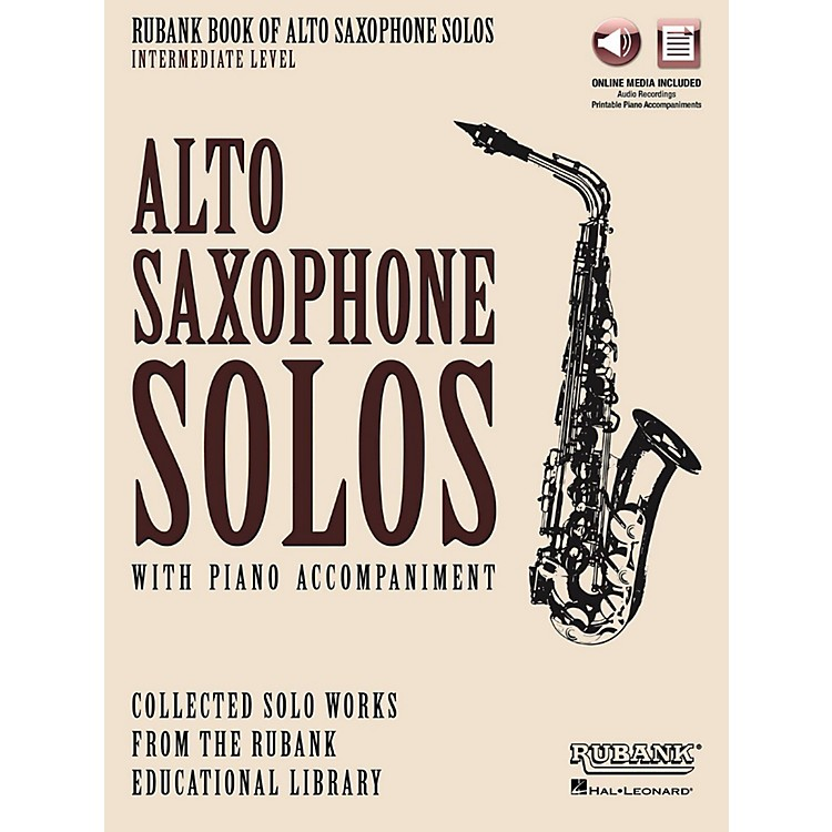 Hal LeonardRubank Book of Alto Sax Solos - Intermediate Level Book/Audio Online