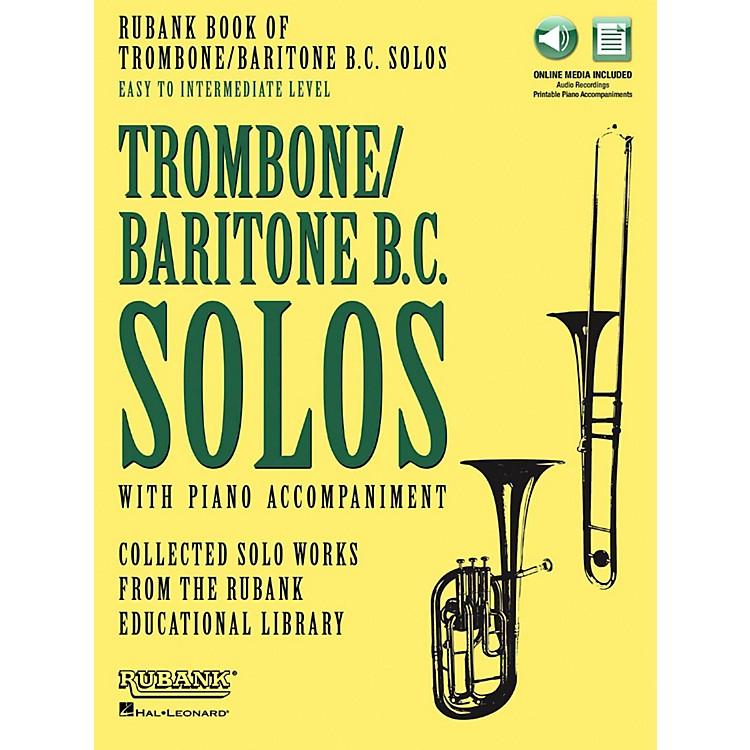 Hal LeonardRubank Book of Trombone/Baritone B.C. Solos Easy - Intermediate Book/Audio Online