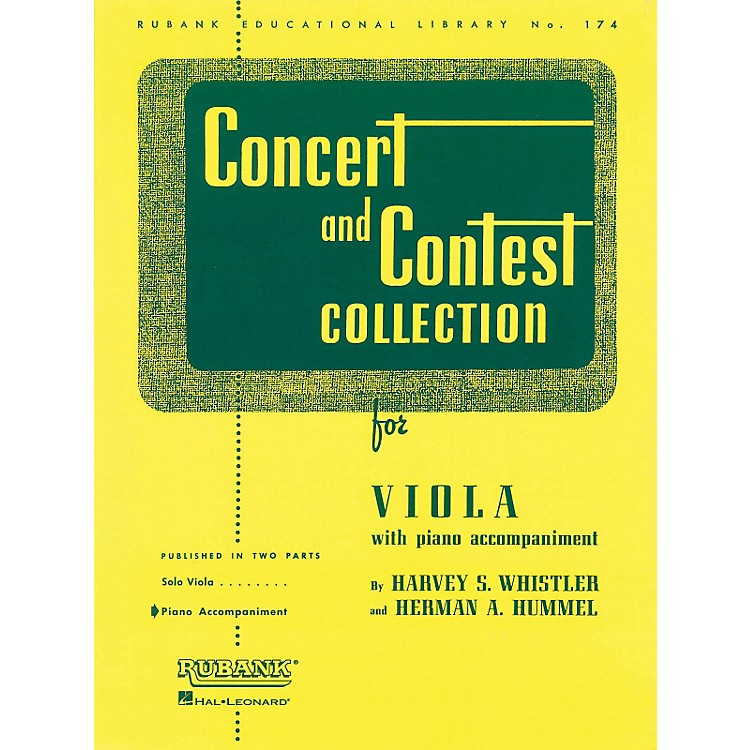 Hal LeonardRubank Concert And Contest Collection - Viola Piano Accompaniment Only