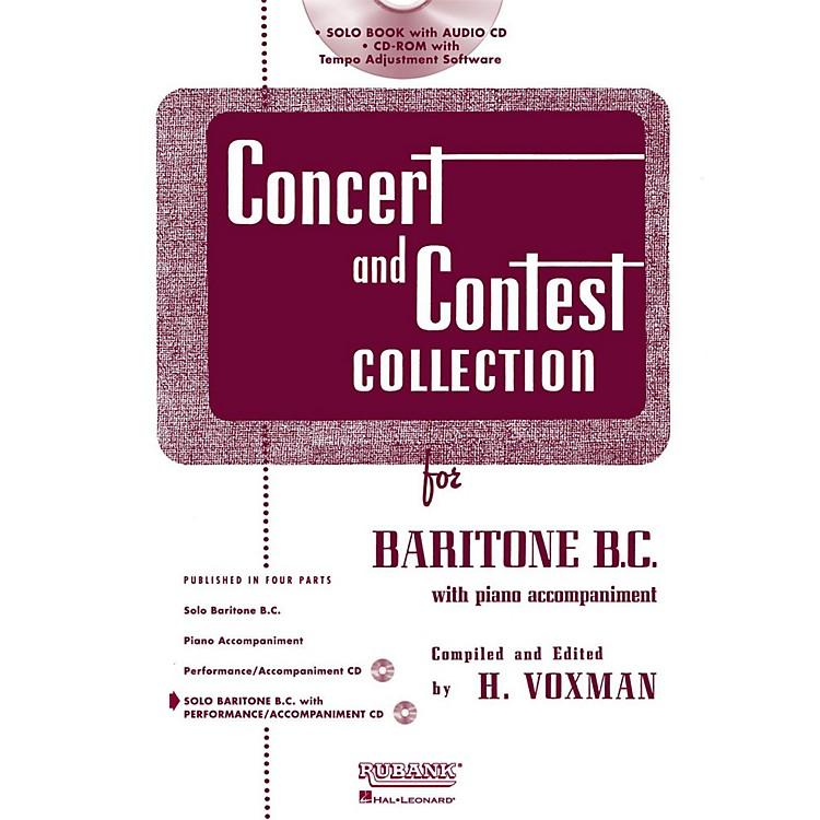 Hal LeonardRubank Concert And Contest Collection Baritone B.C. Book/Online Audio