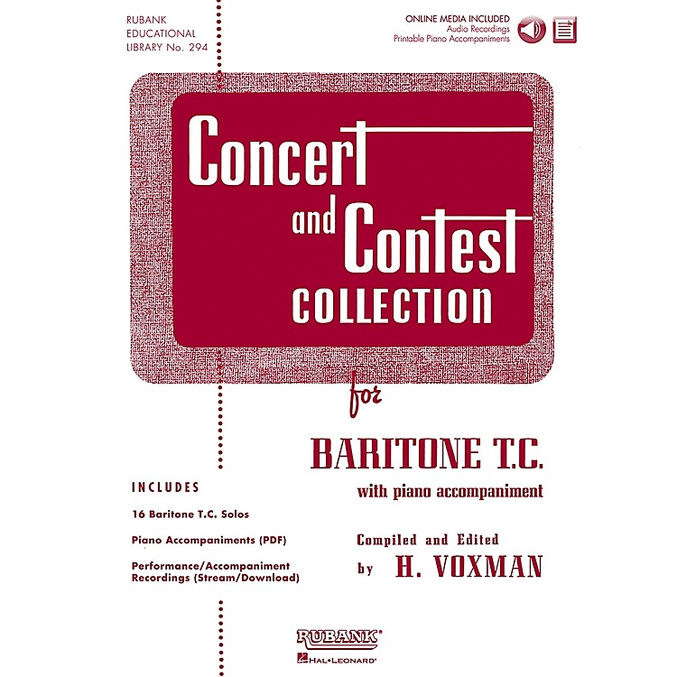 Hal LeonardRubank Concert And Contest Collection Baritone T.C. Book/CD