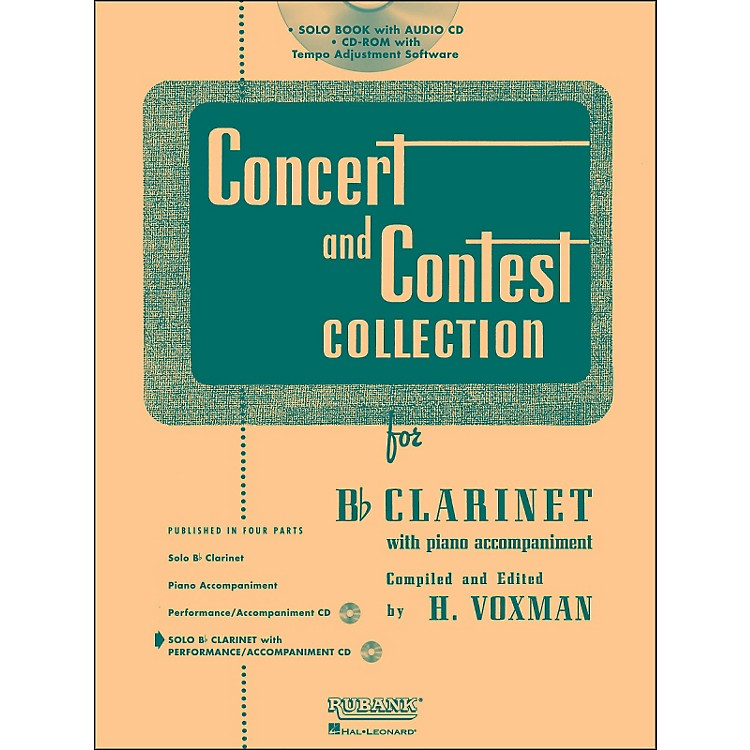 Hal LeonardRubank Concert And Contest Collection Clarinet Book/CD