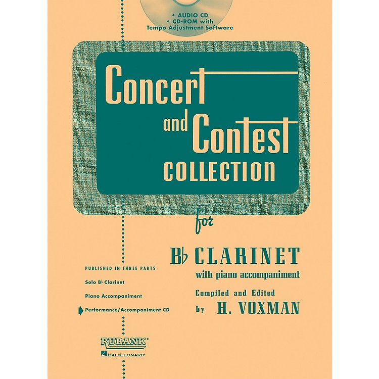 Hal Leonard Rubank Concert And Contest For Clarinet - Accompaniment CD