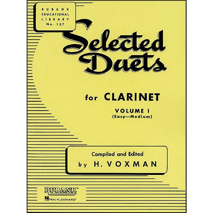 Hal LeonardRubank Selected Duets for Clarinet Vol 1 Easy/Medium
