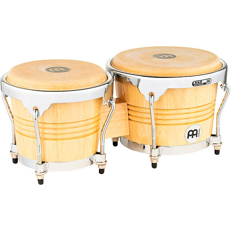 Meinl Rubber Wood Bongos with Chrome Hardware Natural