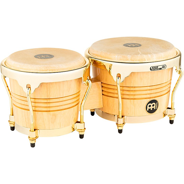 Meinl Rubber Wood Bongos with Gold Tone Hardware Natural