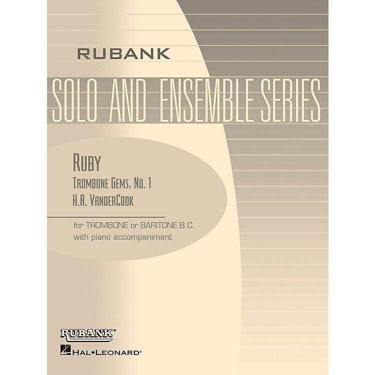 Rubank PublicationsRuby (Trombone (Baritone B.C.) Solo with Piano - Grade 1) Rubank Solo/Ensemble Sheet Series