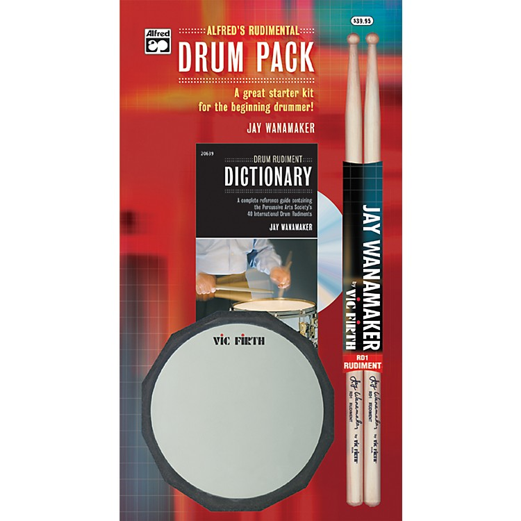 AlfredRudimental Drum Pack Handy Guide CD Drum Pad & Sticks