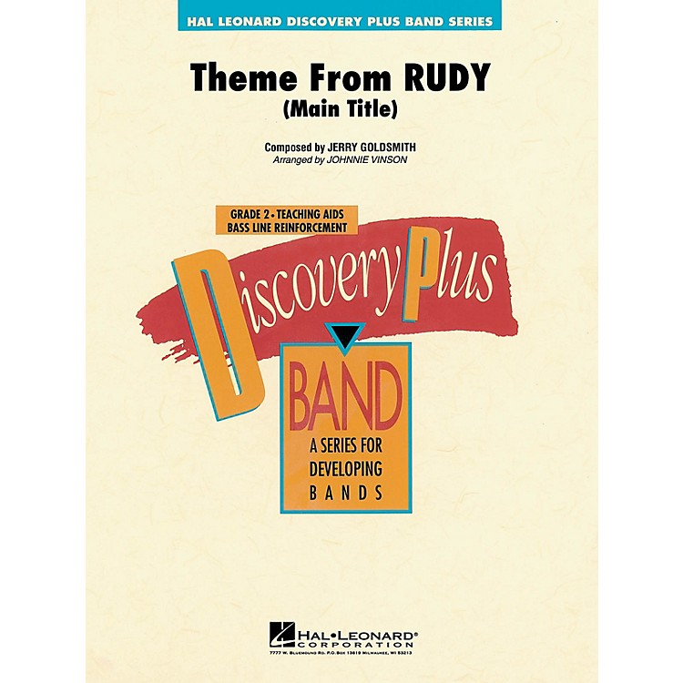 Hal Leonard Rudy - Discovery Plus Concert Band Series Level 2 arranged by Johnnie Vinson