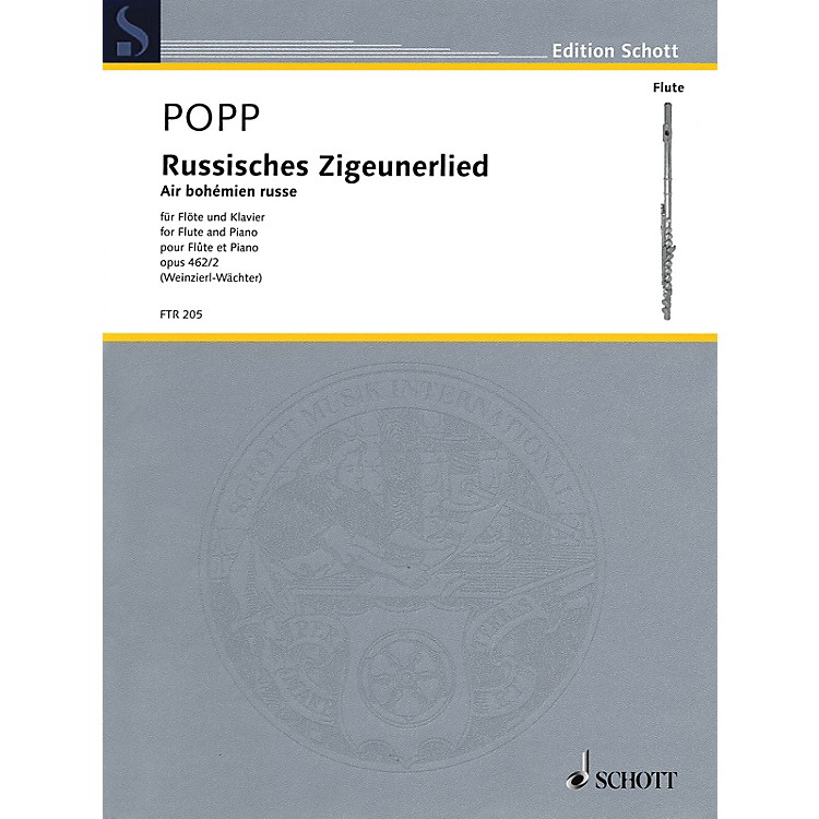 Schott Russisches Zigeunerlied (Air bohemian russe, Op. 462, No. 2 Flute and Piano) Woodwind Series Softcover