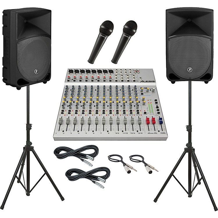 AlesisS-16 / Mackie Thump TH-12A PA Package
