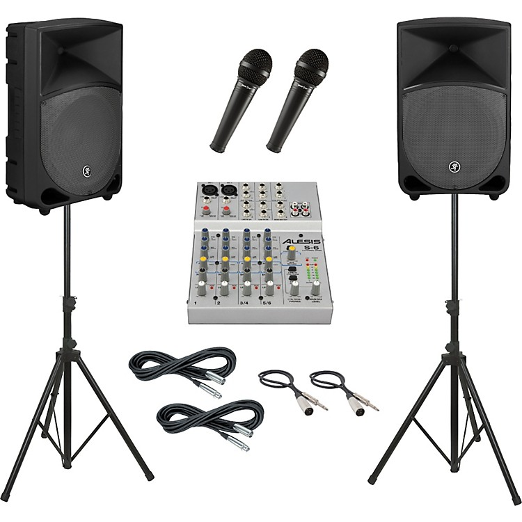 AlesisS-6 / Mackie Thump TH-12A PA Package
