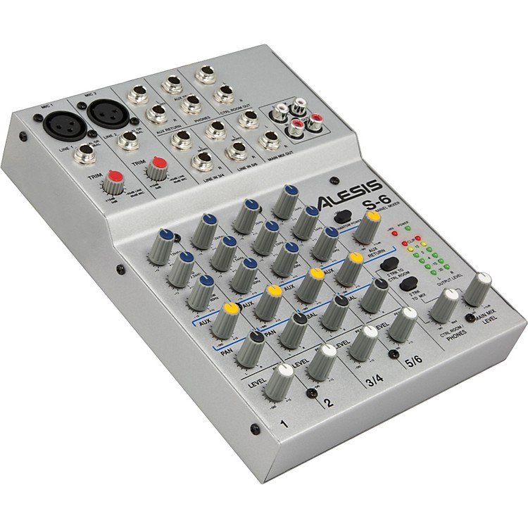 AlesisS-6 6-Channel Compact Mixer