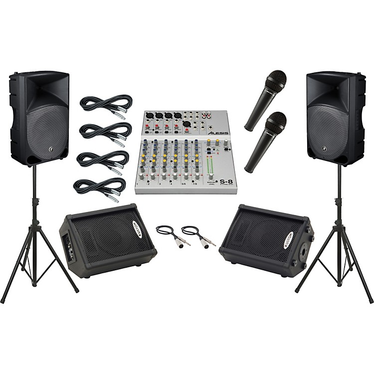 AlesisS-8 / Mackie Thump TH-15A Mains and Monitors Package