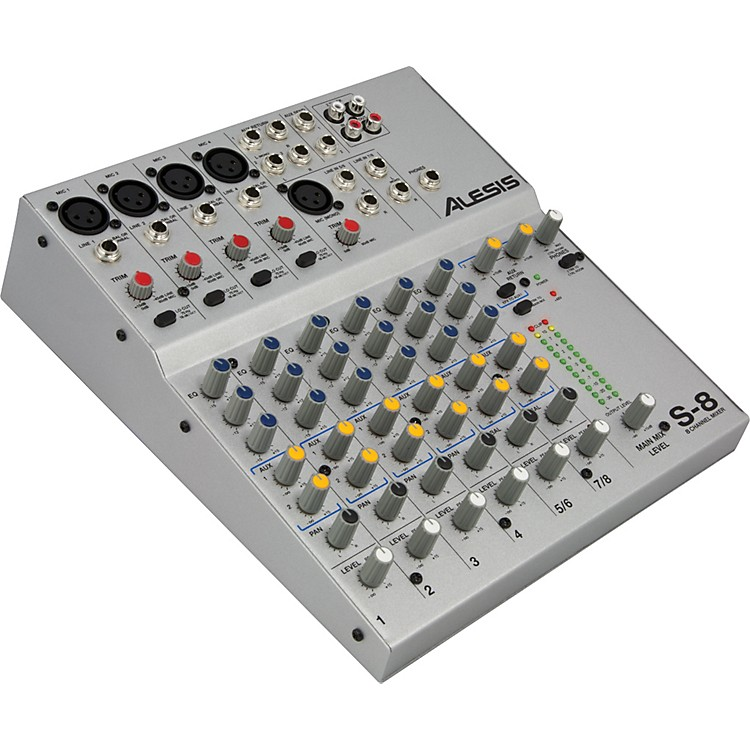 AlesisS-8 8 Channel Compact Mixer