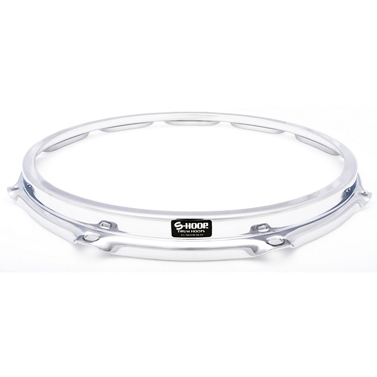 Ahead S-Hoop Drum Hoop Chrome 14 in., 10 Holes