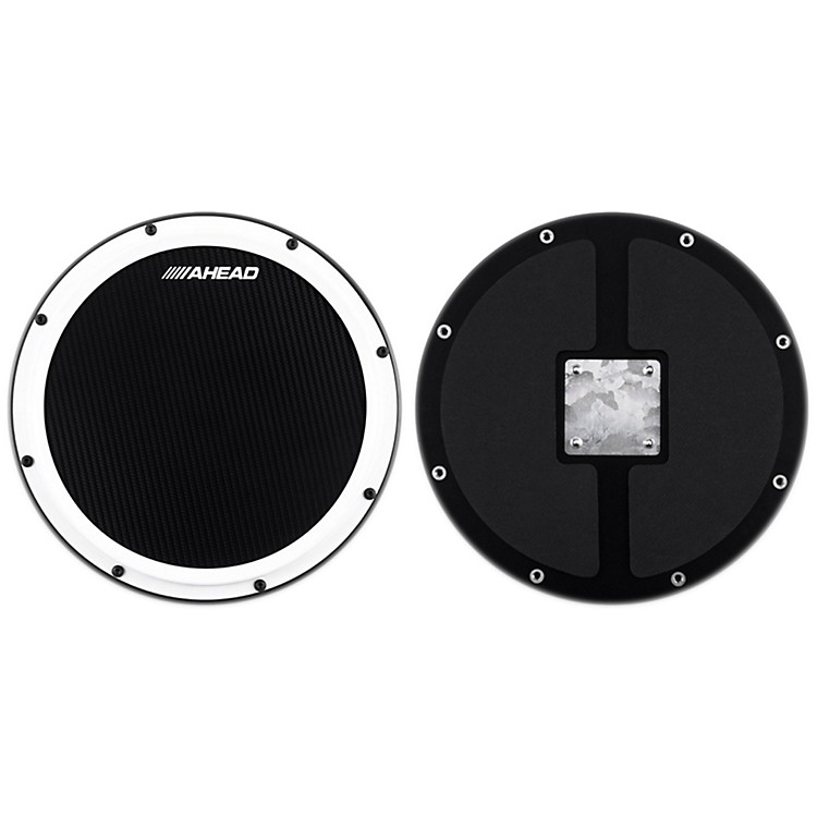 Ahead S-Hoop Marching Practice Pad with Snare Sound Black Carbon Fiber 14 in.