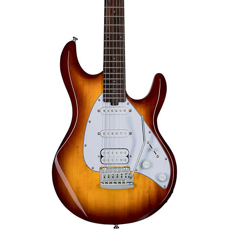 Sterling by Music ManS.U.B. Silhouette Electric GuitarTobacco SunburstWhite Pickguard