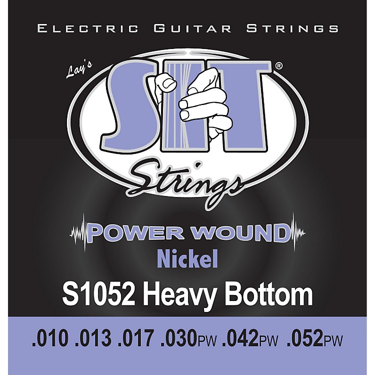 SIT StringsS1052 Heavy Bottom Power Wound Nickel Electric Guitar Strings