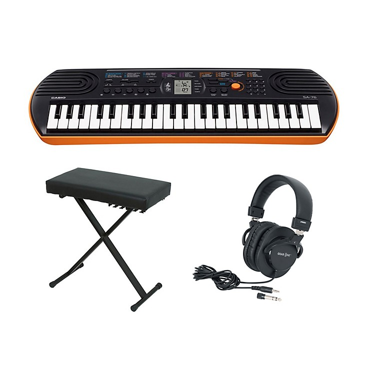 Casio SA-76 Keyboard with Bench and Headphones