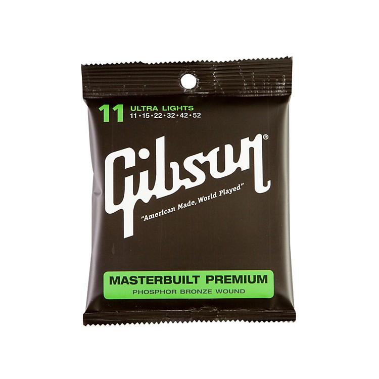 GibsonSAG-MB11 Masterbuilt Premium Phosphor Bronze Acoustic Guitar Strings