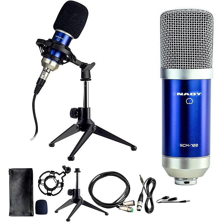 NadySCM-700 8-Piece Studio Condenser Microphone Podcast Bundle