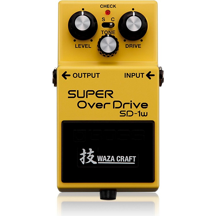 Boss SD-1W Super Overdrive Waza Craft Guitar Effects Pedal  888365608334