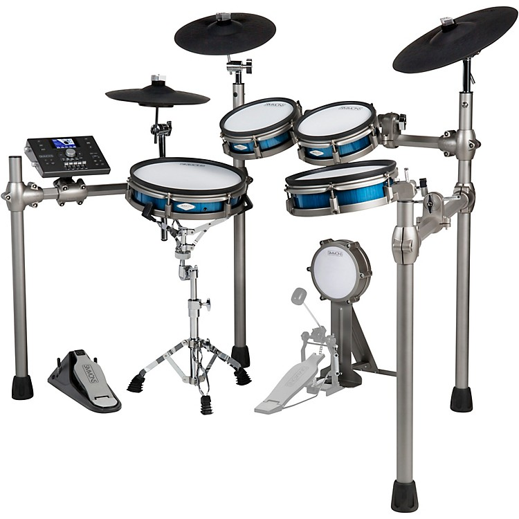 Simmons SD1200 Electronic Drum Kit with Mesh Pads Blue Metallic