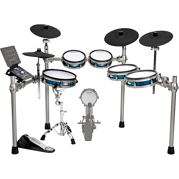 SimmonsSD1200 Expanded Electronic Drum Kit with Mesh PadsBlue Metallic
