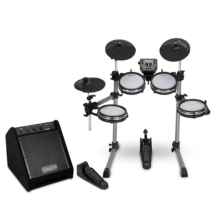 SimmonsSD350 Electronic Drum Kit with Mesh Pads and Simmons DA25 Drum Set Monitor