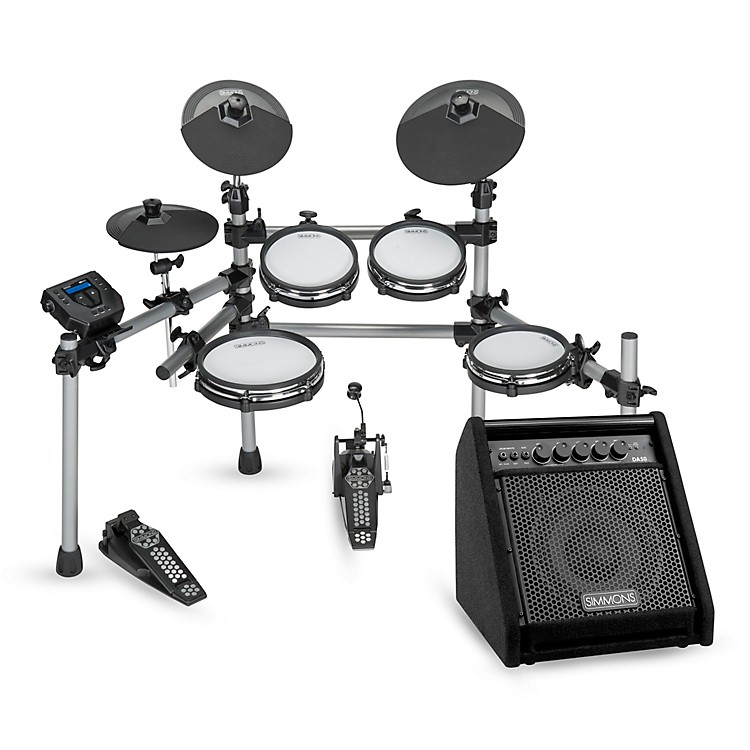 SimmonsSD550 Electronic Drum Set With Mesh Pads and Simmons DA50 Monitor