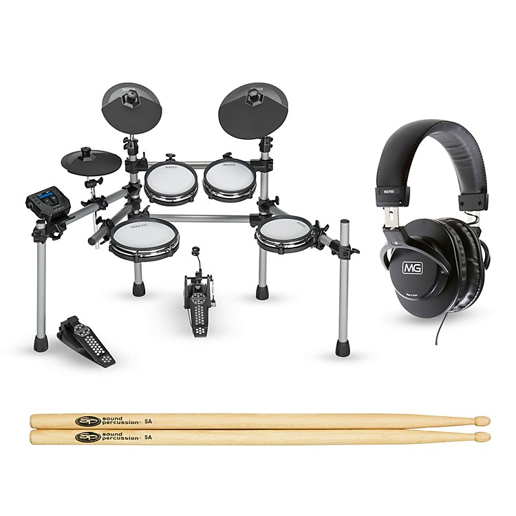 SimmonsSD550 Electronic Drum Set with Mesh Pads Starter Bundle