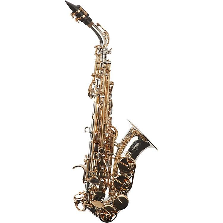 Sax DakotaSDSC-909 Curved Professional Soprano SaxophoneSilver and Gold