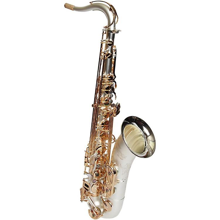 Sax DakotaSDT-XL-210 Professional Tenor Saxophone Gold Plated KeysSatin Silver
