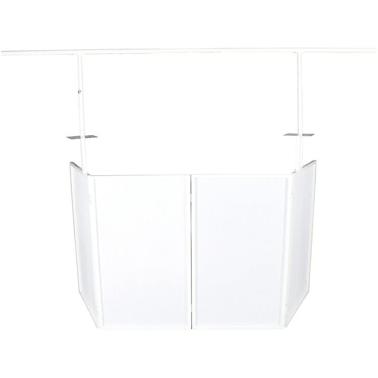 NovoproSDX V2 Portable DJ Booth w/ Lighting Bar, Shelves and Bags (White)