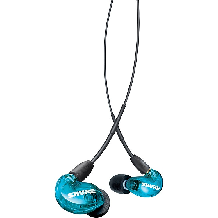 Shure SE215 Special Edition Sound Isolating Earphones Blue/Grey