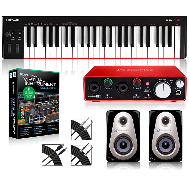 Nektar SE49 49-Key USB MIDI Keyboard Controller Packages  Intermediate Virtual Instrument Package