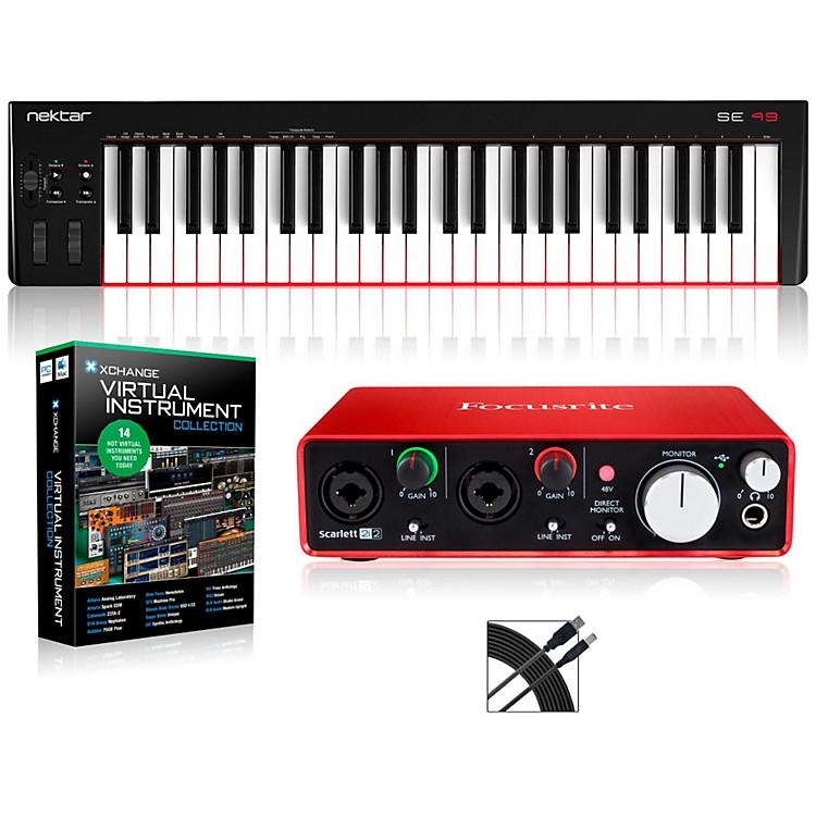 NektarSE49 49-Key USB MIDI Keyboard Controller PackagesIntermediate Virtual Instrument Package