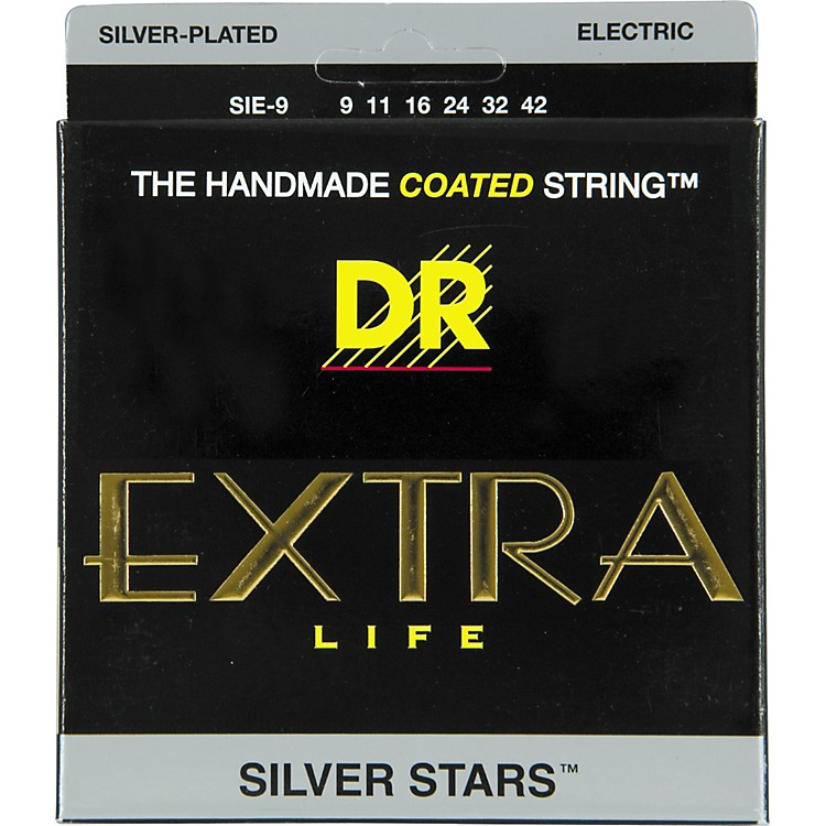 DR StringsSIE-9 Silver Stars Coated Electric Guitar Strings