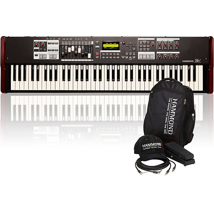 HammondSK1-73 73 Key Digital Stage Keyboard and Organ with Keyboard Accessory Pack